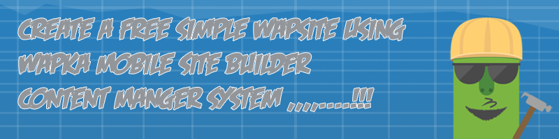 Create a simple wapsite using wapka
