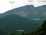 Vista dels Rocs de Castell des de la Solana del Putjot