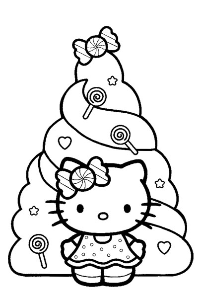 pretty hello kitty coloring pages - photo#22