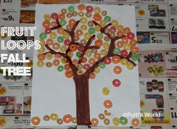 Fruit Loops Fall Tree