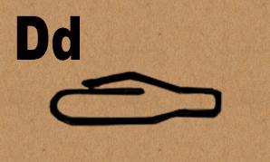 image D in hieroglyphics