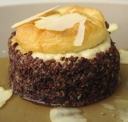 Dying for Chocolate: Goat Cheese Souffle with Cocoa Nibs