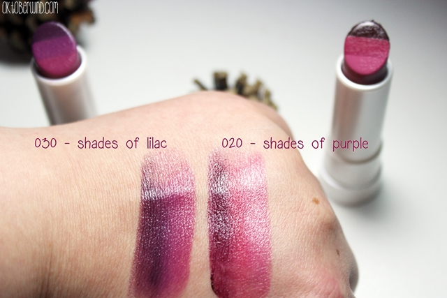 p2-all about berries-blurred lines ombre lipstick-shades of purple-shades of lilac - swatch