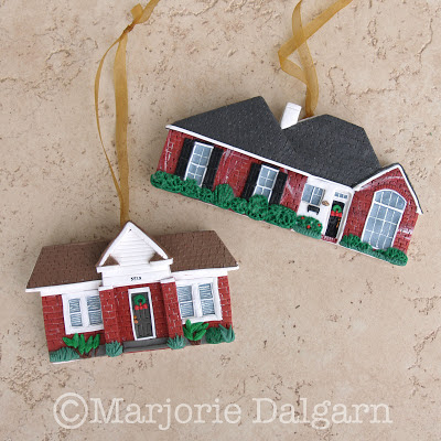 Custom House Ornaments by threemoonbabies
