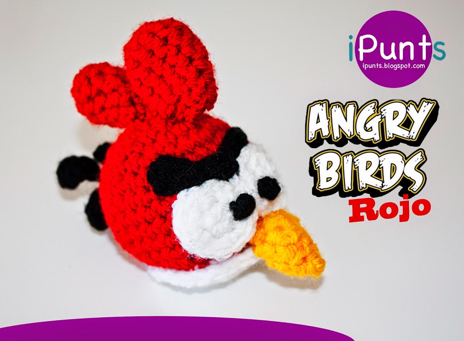 Patron Angry Birds Amigurumi : iPunts: Angry Birds Rojo a crochet (amigurumi)