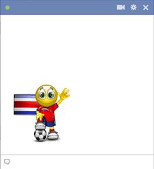 Costa Rica football smiley
