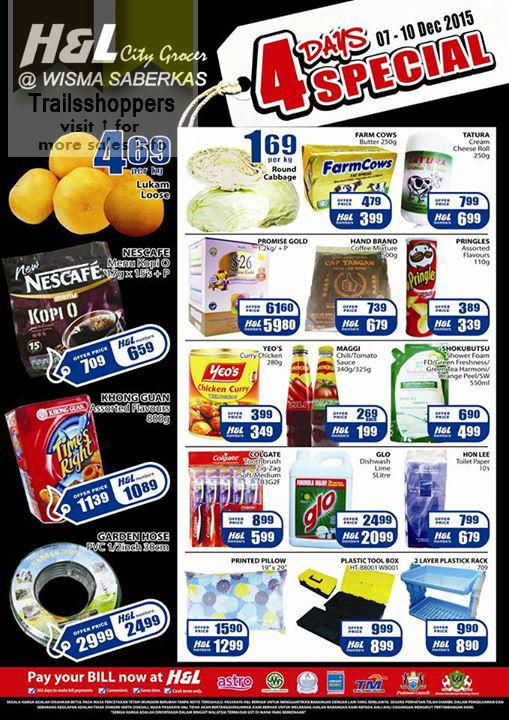 H&L Supermarket  4 Days Special Promotion offer
