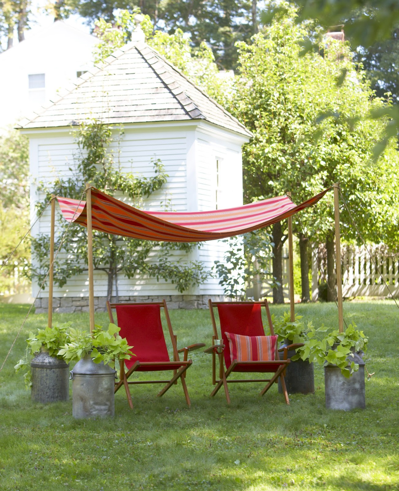 Milk containers summer day & Karin Lidbeck: Making a Summer Canopy - Using Milk Jugs and....
