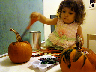 Toddler Halloween Pumpkin Painting Activity