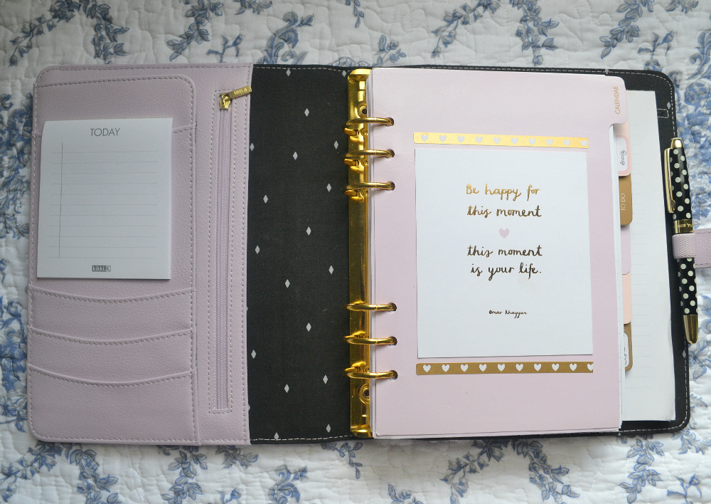the kikki k personal planner in leather lilac