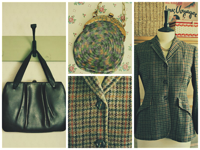 vintage handbags and tweed hacking jacking