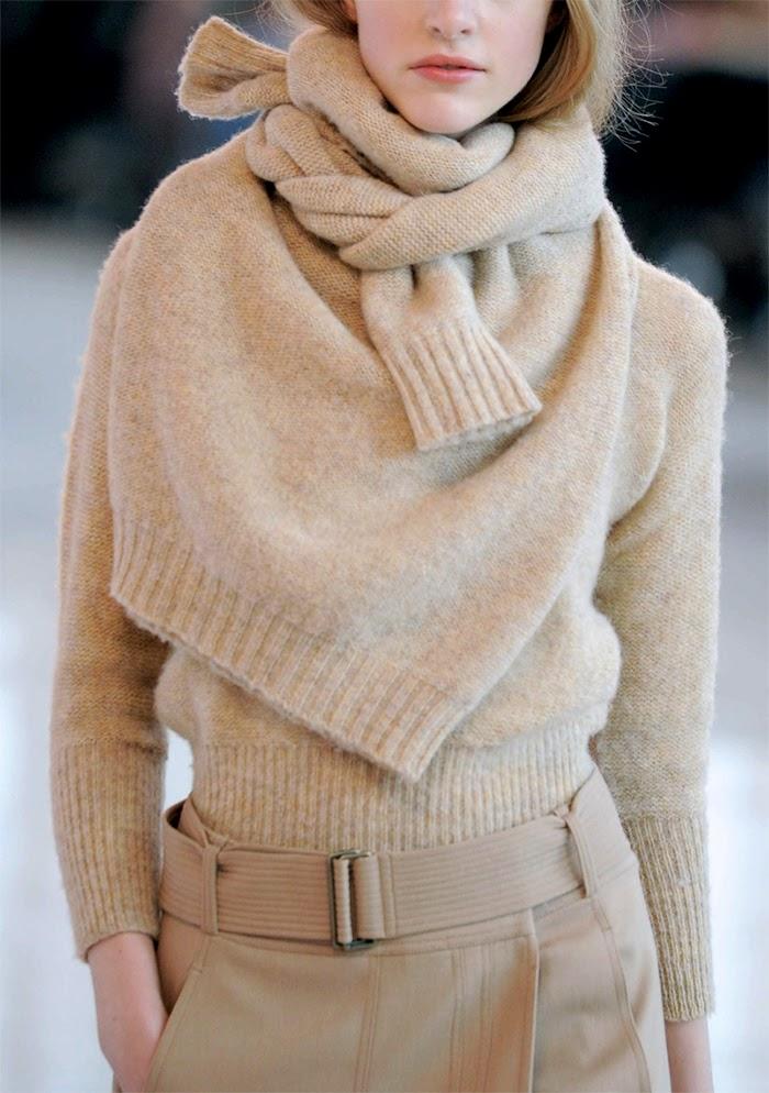 Sonia-Rykiel-Christophe-Lemaire-sweater-scarf-trend-alert-talestrip