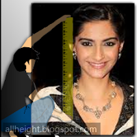 Sonam Kapoor Height - How Tall
