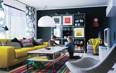 Ruang tamu cantik, ruang tamu full color, ruang tamu indah, ruang tamu minimalis, ruang tamu sempit, desain ruang tamu