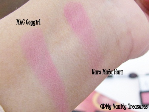 MAC Coygirl Blush Swatches
