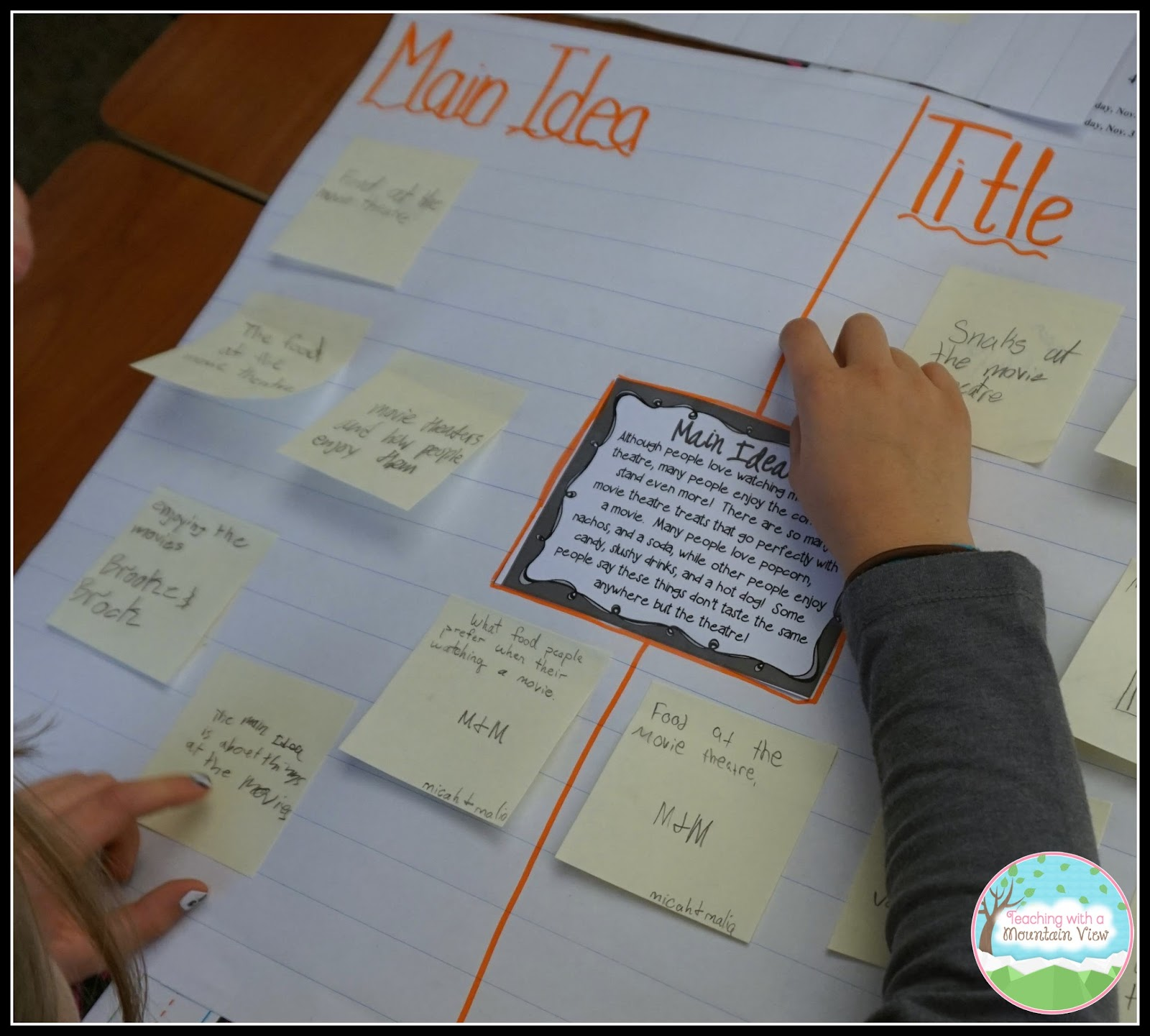 A Quick and Easy Main Idea Activity! | Teaching With a Mountain View ...