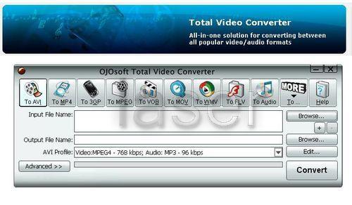 Total Video Converter также умеет вести извлечение звуковых дорожек из виде