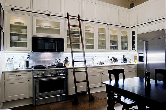 Kitchen with Library Ladder
