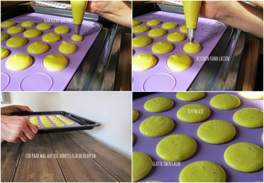 Macarons, Luftblasen entfernen