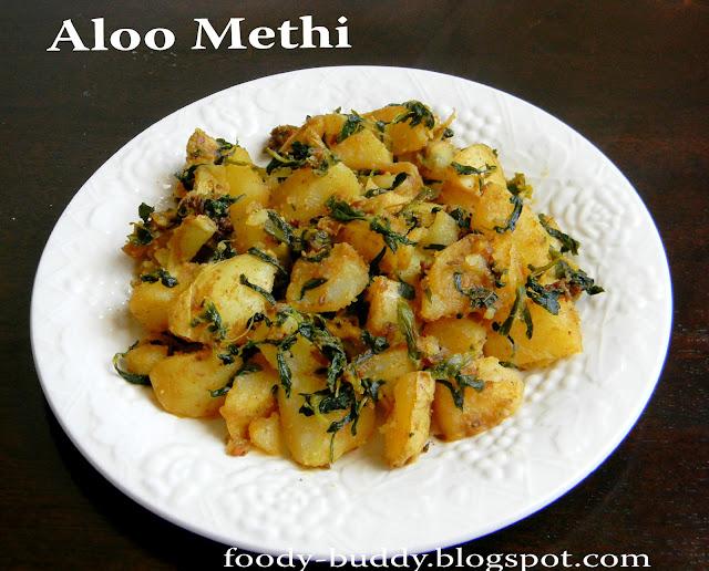 : Aloo Methi (Potato with Fenugreek Leaves)- How to make Aloo Methi ...