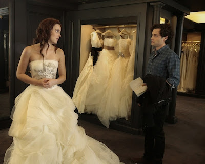 Vera Wang wedding gown for Blair
