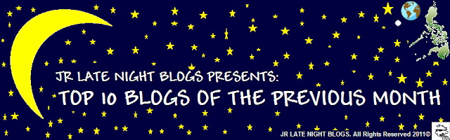 JR Late Night Blogs: Top 10 Blogs of the Previous Month
