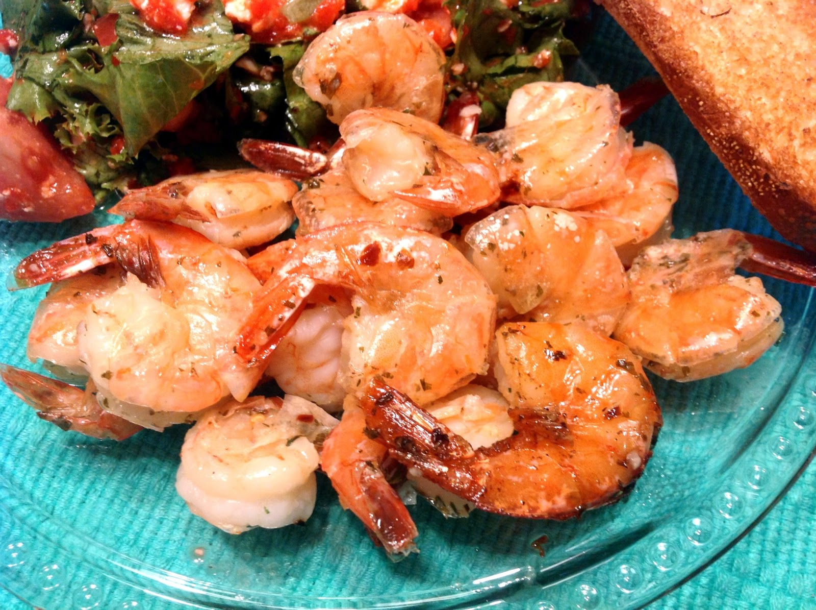 the dog mom: spicy lemon garlic shrimp