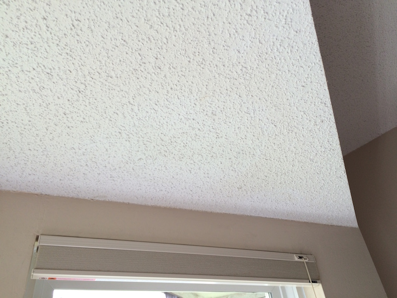 How to get water stains out of ceiling tiles
