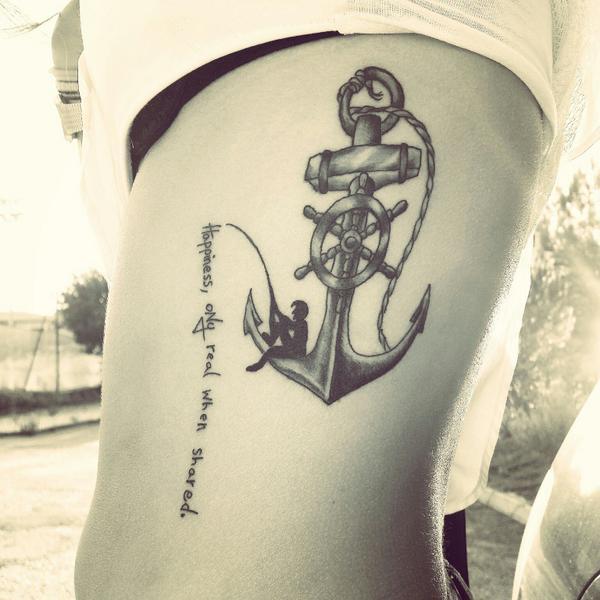 Tatuagem de Ancora e Frase