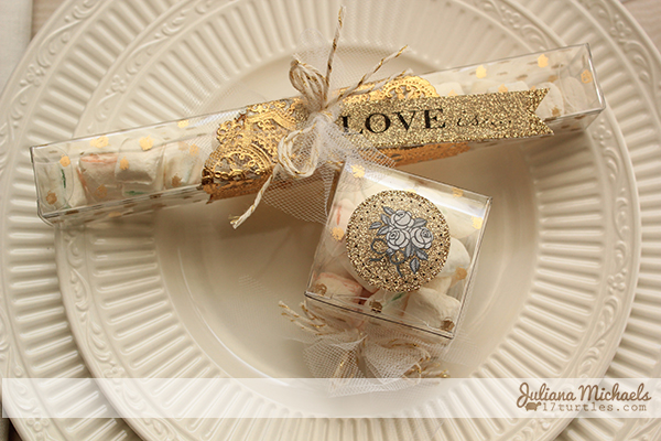 Krylon Gold Leafing Pen Wedding Favors by Juliana Michaels