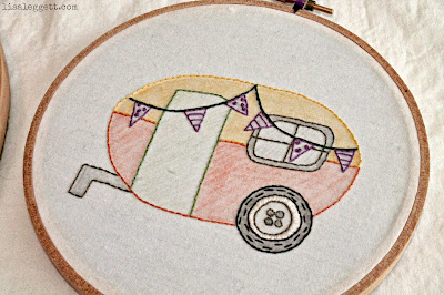 Stitched Camp Trailer by Melissa Loken