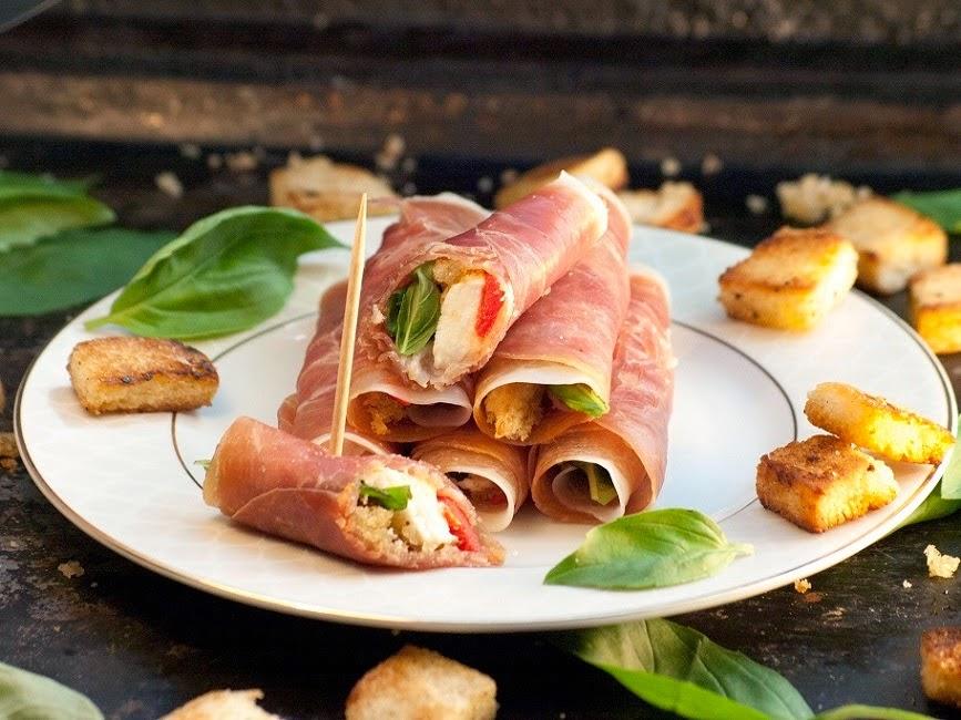 basilic, parme d'italie, Roulés de Parme aux saveurs d'Italie, bouchées italienne, roulés de jambon, recettes jambon de parme, jambon de parme, roulés de jambon au fromage, roulé au jambon cru