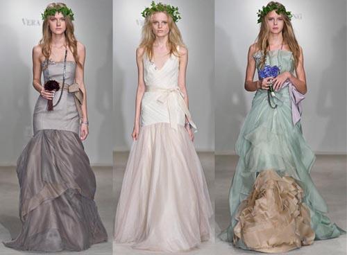 Vera Wang Tea Length Wedding Dress