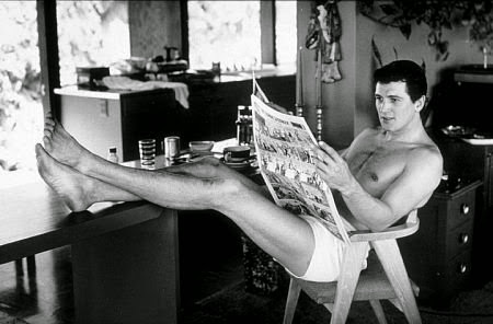 Rock Hudson enjoying a little off time from the studio.