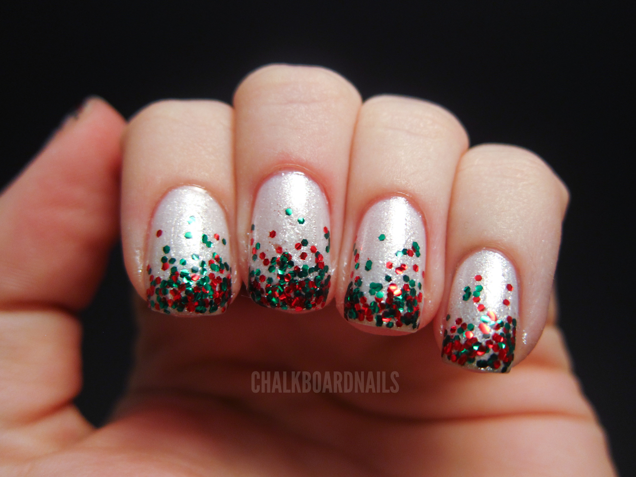 My Christmas Nails Chalkboard Nails Nail Art Blog