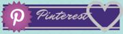 Pinterest corazón gris y banderín morado