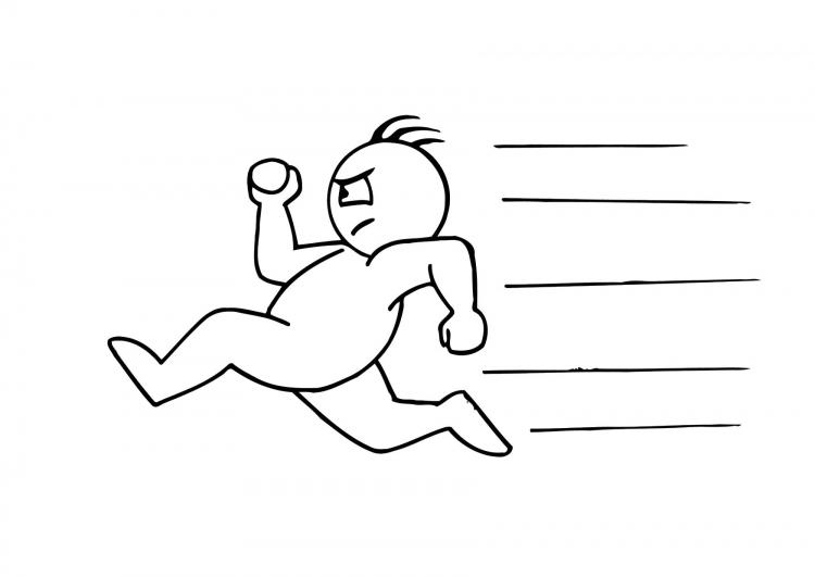 Persona corriendo para dibujar - Imagui