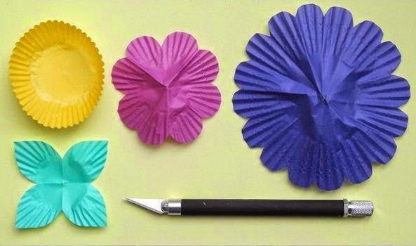 Cara Membuat Kerajinan Tangan Dari Kertas - Lampu Bunga Kertas 2