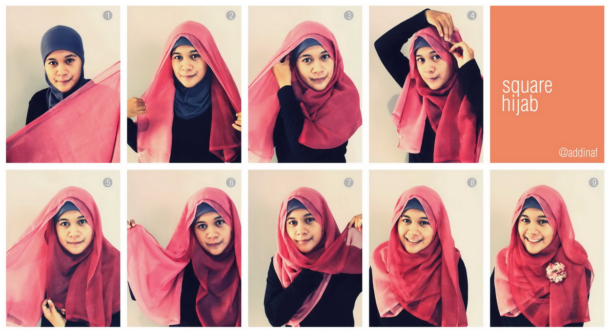 Addinaf 1 Hijab Tutorial For Daily Life