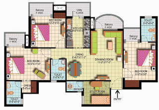 Amrapali Silicon City :: Floor Plan