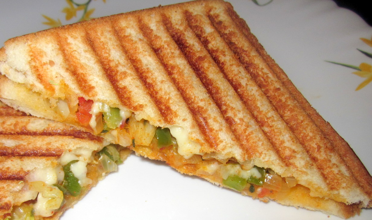 Shweta's Simple Recipes: Vegetable Grilled Sandwich