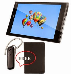Flat 17% Off on Digiflip Pro XT811 Tablet(16 GB, 2G,3G, WiFi, Voice Calling) + FREE Bookcase Cover worth Rs.799 + FREE Bluetooth Headset worth Rs.1199, All for Rs.9999 Only