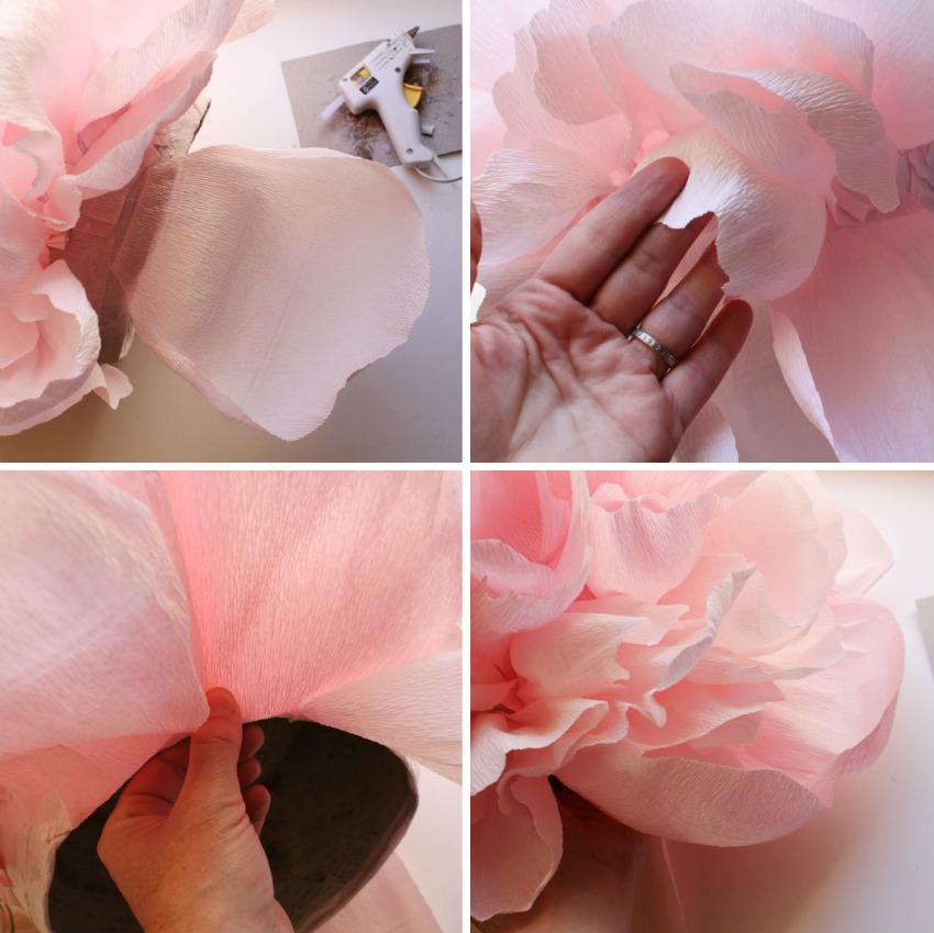 Как сделать пион из бумаги своими руками поэтапно фото