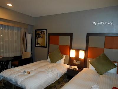 Room at New Miyako hotel in Kyoto - Japan