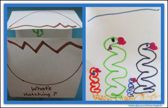 photo of: Spring Foldable in Preschool: What's Hatching via RainbowsWithinReach