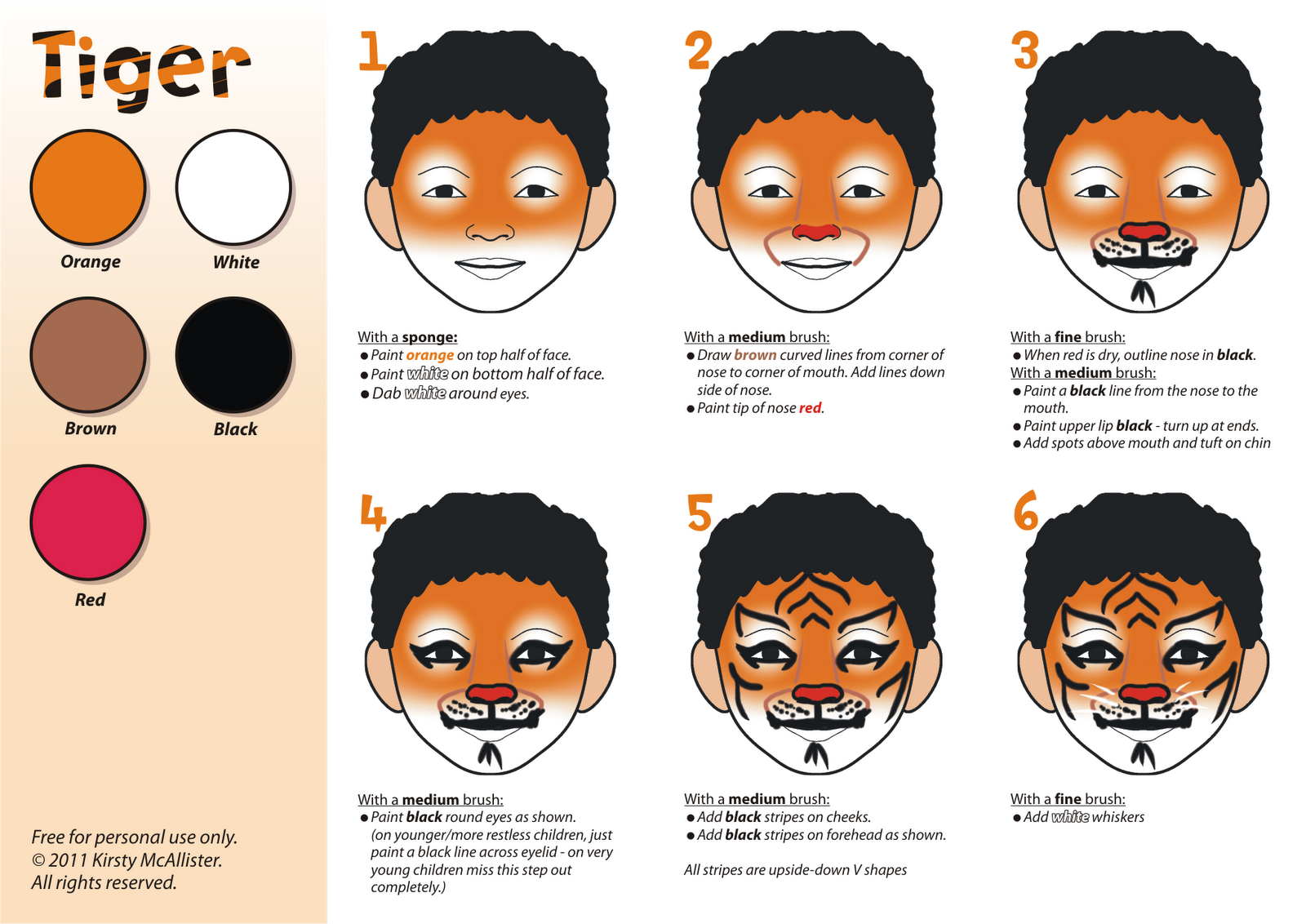Blank Face Painting Template Viewing Gallery