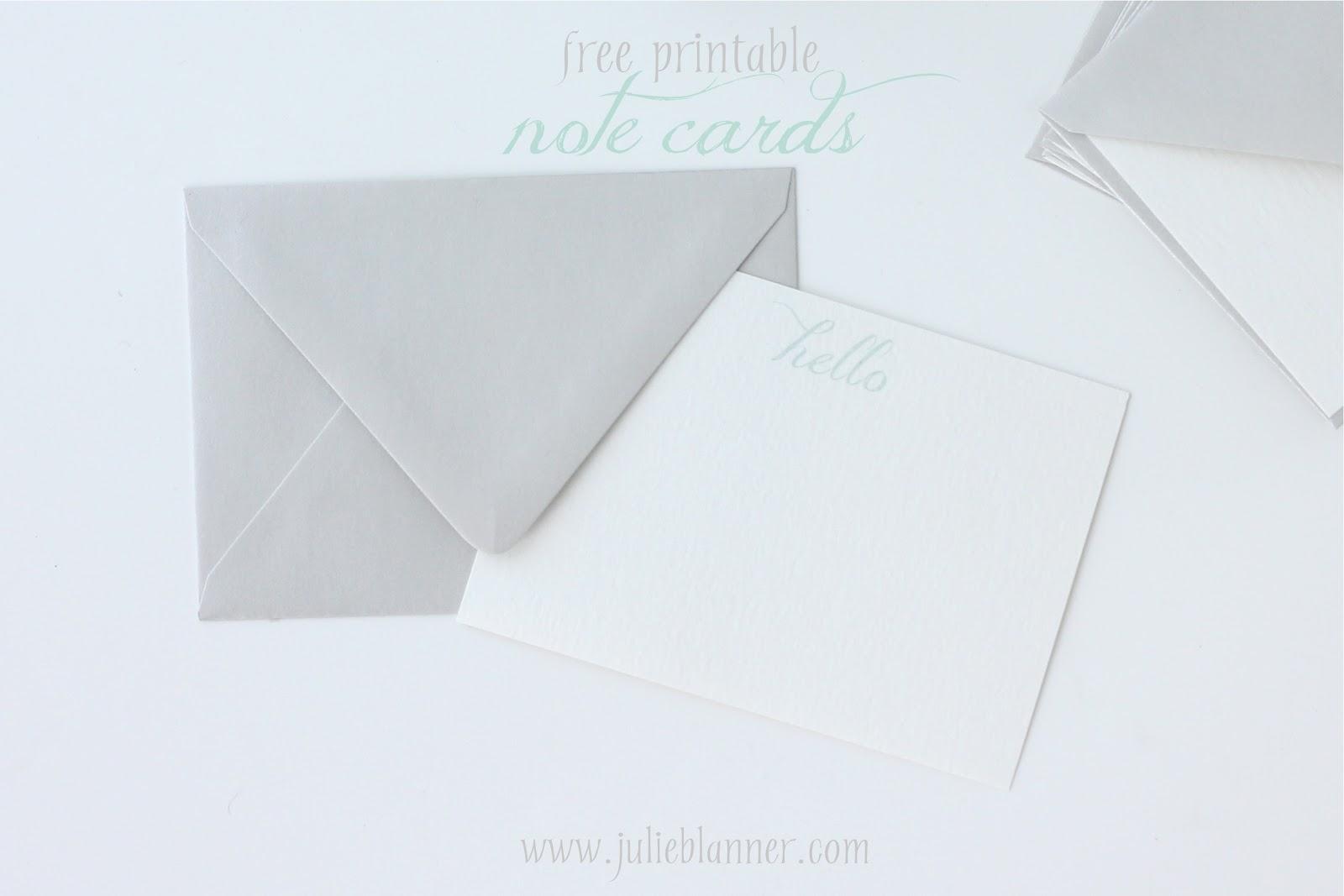 Printable Note Cards Free Printable Notecards Julie Blanner Entertaining Home