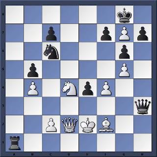 Echecs à Clichy : la position après 35.Cd4