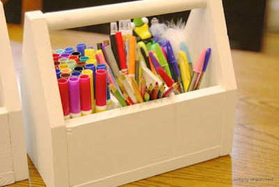 DIY Pottery Barn Inspired Kids' Art Caddy