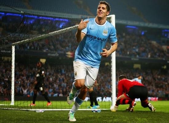 Stevan Jovetic Manchester City Striker 2014